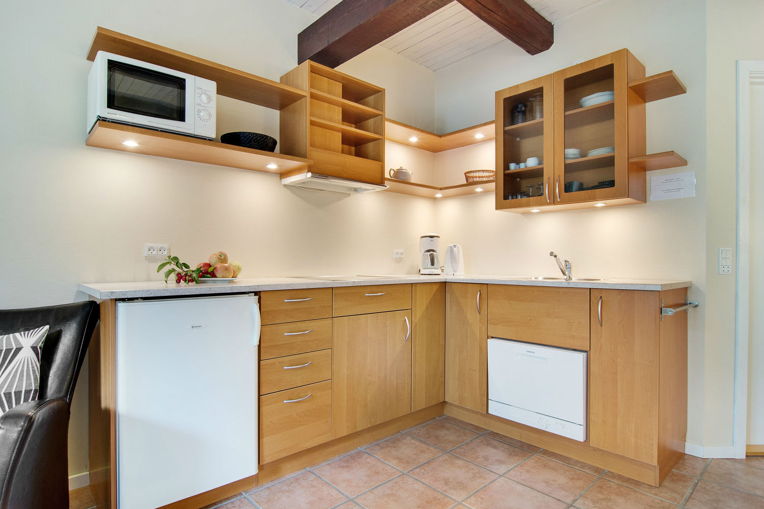 Kitchen in ground level flat